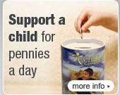 Support a child for pennies a day